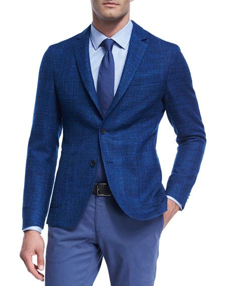 Virgin Wool-Silk Soft Blazer