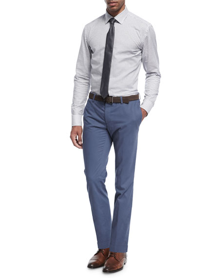 Stretch-Cotton Slim-Straight Pants