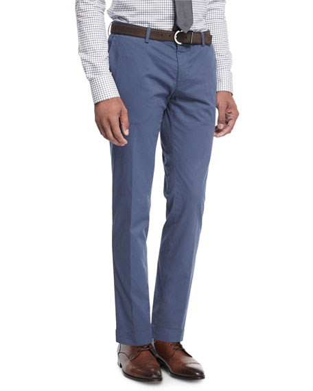 BOSS Stretch-Cotton Slim-Straight Pants