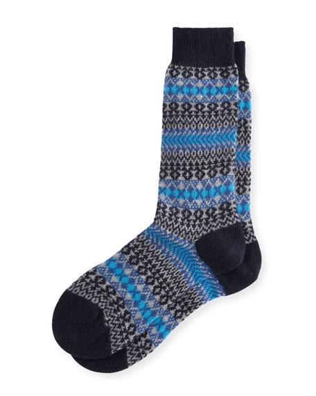 Pantherella Mapperton Fair Isle Half-Calf Socks