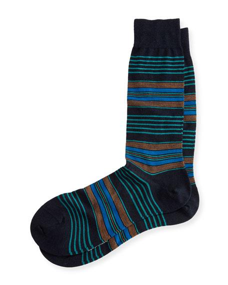 Pantherella Silbury Multi-Striped Half-Calf Socks