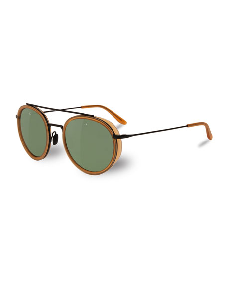 Vuarnet Edge Panthos Sunglasses, Red Amber/Matte Black