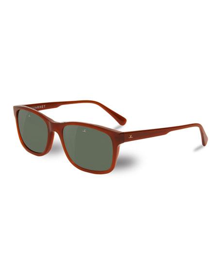 District Medium Rectangular Sunglasses, Brown