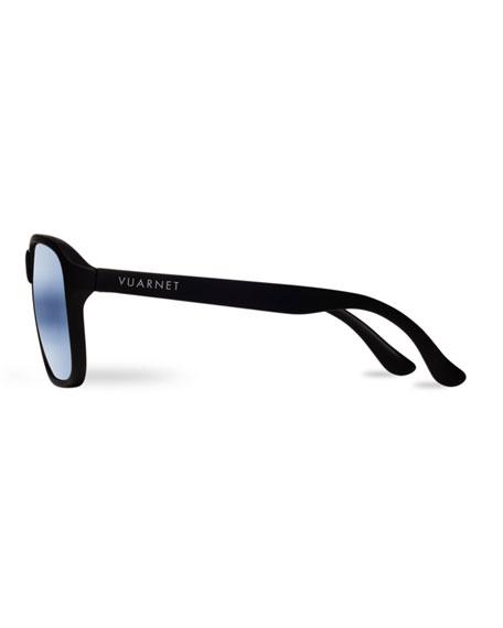 03 Acetate Pilot Polarized Sunglasses, Black