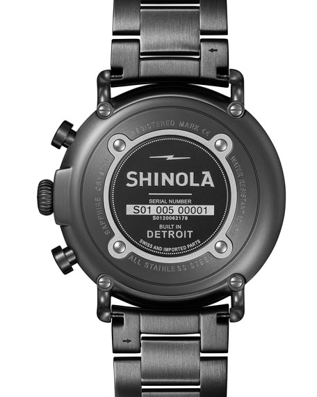 47mm Runwell Chronograph Watch, Navy