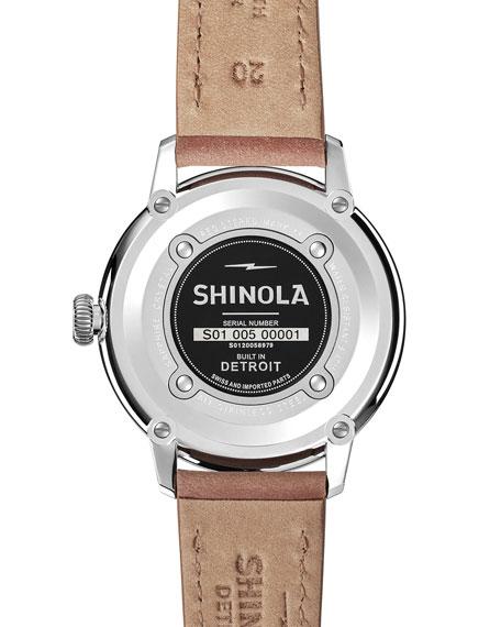 Men's 42mm Bedrock Chronograph Watch, Midnight Blue/Natural