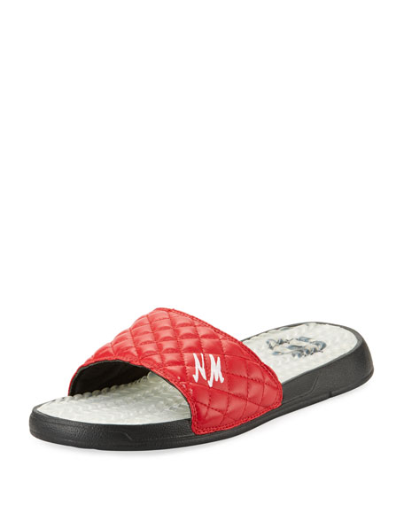 ISlide Neiman Marcus Quilted Slide Sandal