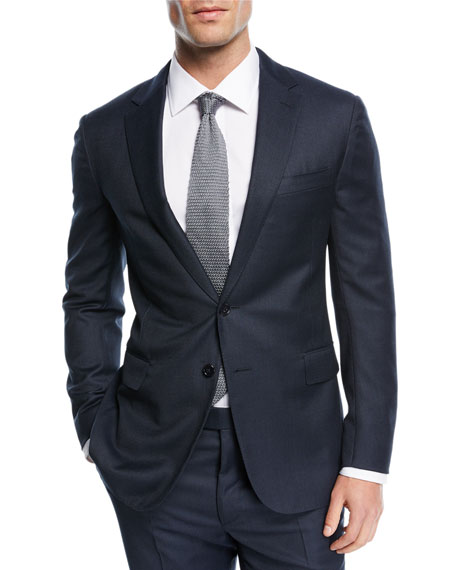 Textured Birdseye-Knit Two-Piece Suit