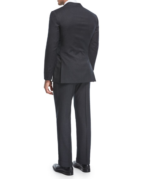 Micro-Neat Wool Two-Piece Suit