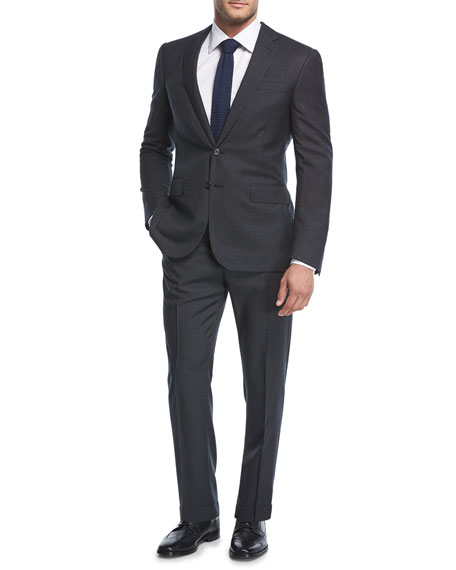 Ralph Lauren Micro-Neat Wool Two-Piece Suit