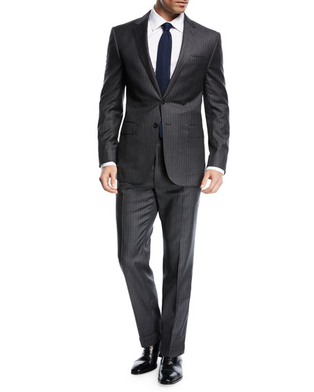 Pinstriped Wool Suit