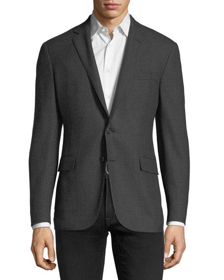 Tonal Plaid Wool Sport Coat