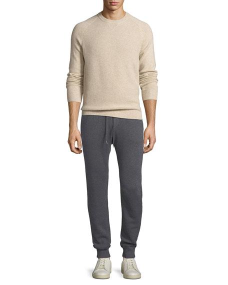 Cashmere-Cotton Knit Jogger Pants