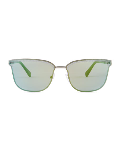 Rectangular Chevron Sunglasses