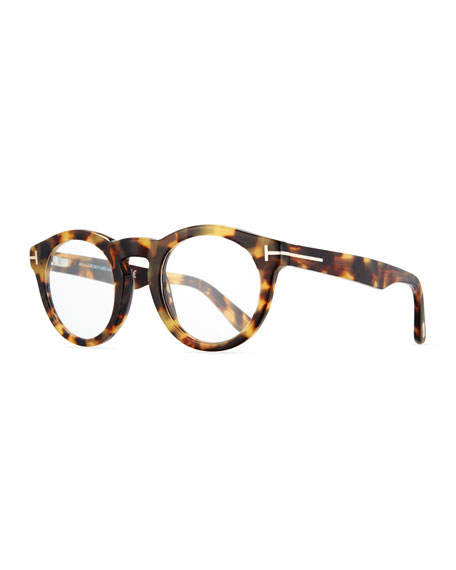 Soft Rounded Acetate Optical Frames, Shiny Tortoise