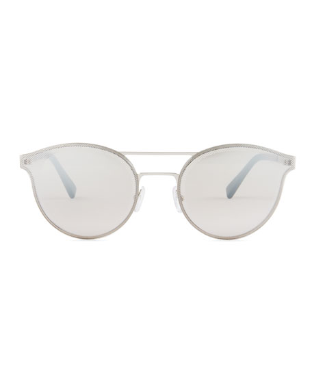 Rectangular Chevron Sunglasses, Blue