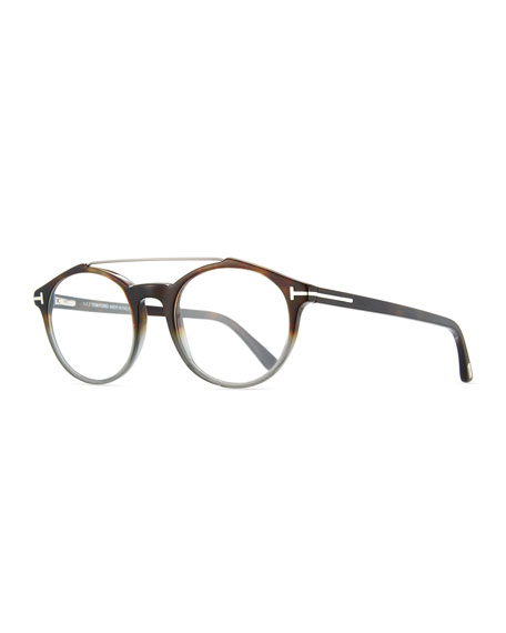TOM FORD Round Acetate Optical Frames with Brow