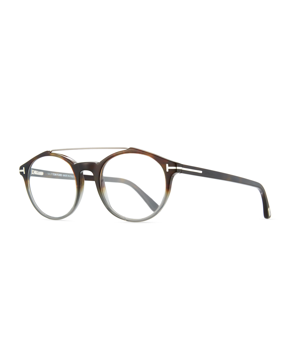 d3f9a5159c4d TOM FORD Round Acetate Optical Frames with Brow Bar