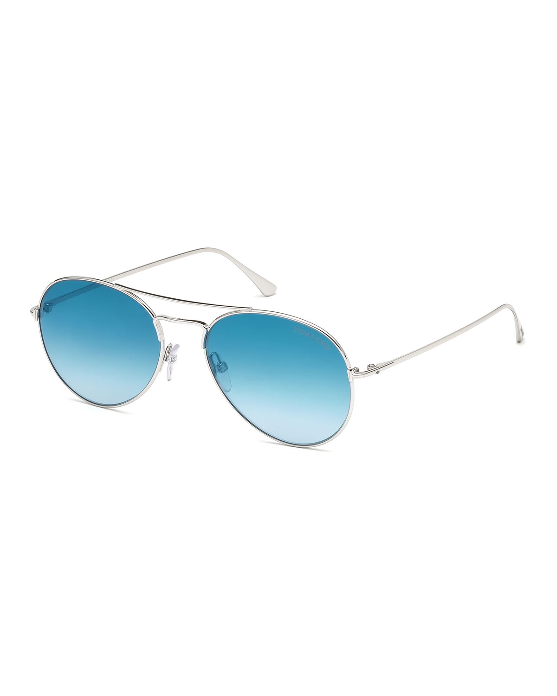 4d976c4fad3 TOM FORD Ace Metal Pilot Sunglasses
