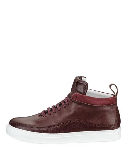 Men's Braeburn Leather High-Top Sneakers, Oxblood