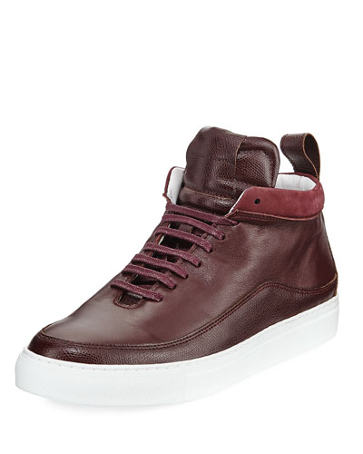 Men's Braeburn Leather High-Top Sneakers, Oxblood