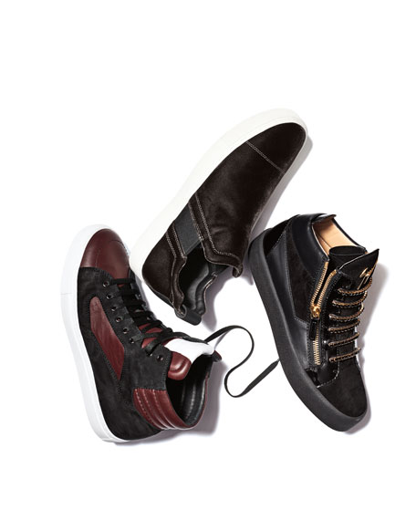 Men's Artel Leather High-Top Sneakers