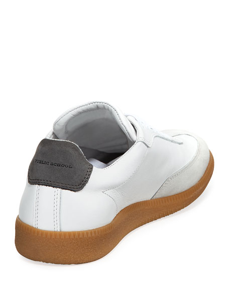 Men's Otto Low-Rise Leather Sneakers, White