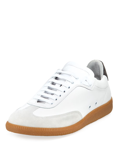 Public School Otto Low-Rise Leather Sneaker, White