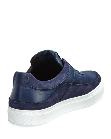 Men's Braeburn Leather Low-Top Sneakers, Navy