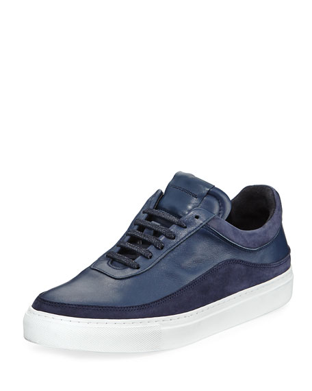 Public School Braeburn Leather Low-Top Sneaker, Navy