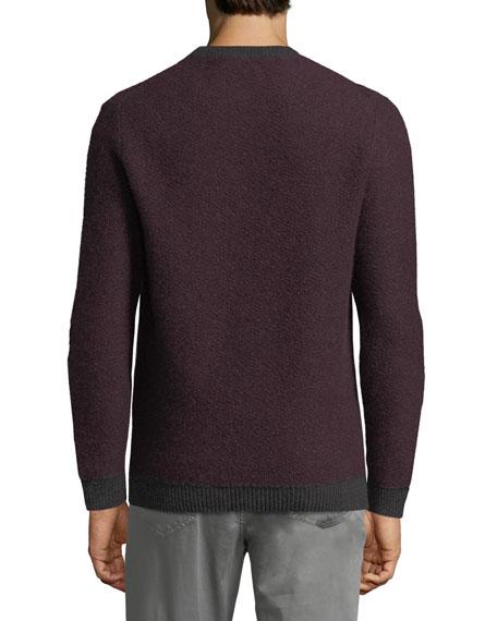 Contrast-Trim Cashmere Sweater