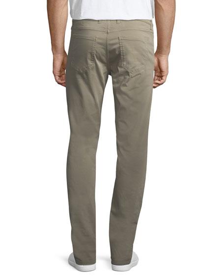 Stretch-Cotton Five-Pocket Pants, Khaki