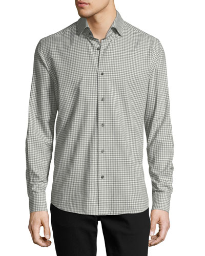 Neiman Marcus Gingham Long-Sleeve Sport Shirt f944b3bc3267e