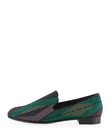 Swarovski Crystal Leather Loafer
