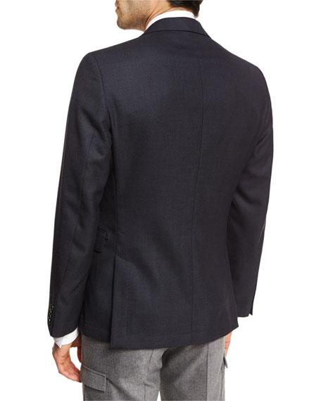 Birdseye Wool Two-Button Sport Coat