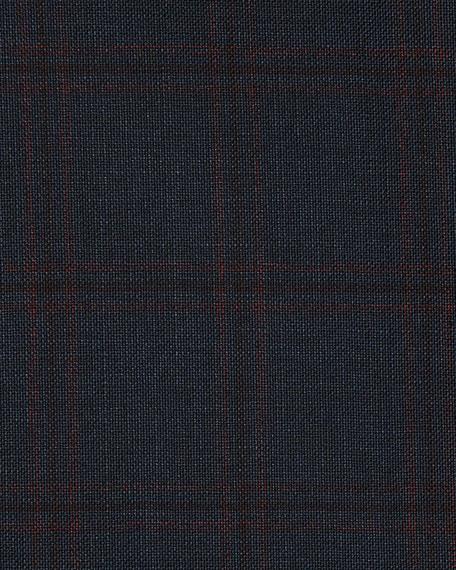 Windowpane Check Wool Sport Coat