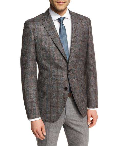 Windowpane Check Wool Two-Button Sport Coat