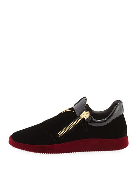 Men's Velvet & Patent Leather Trainer Sneaker
