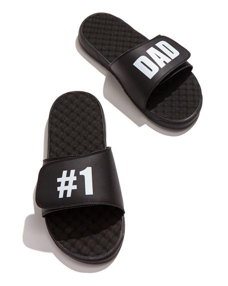 #1 Dad Slide Sandal, Black