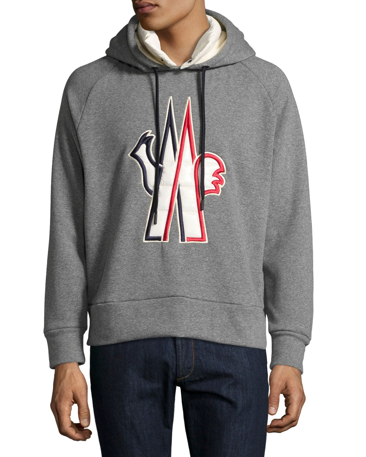 eb20cde17c79 Moncler Grenoble Logo-Embroidered Pullover Hoodie