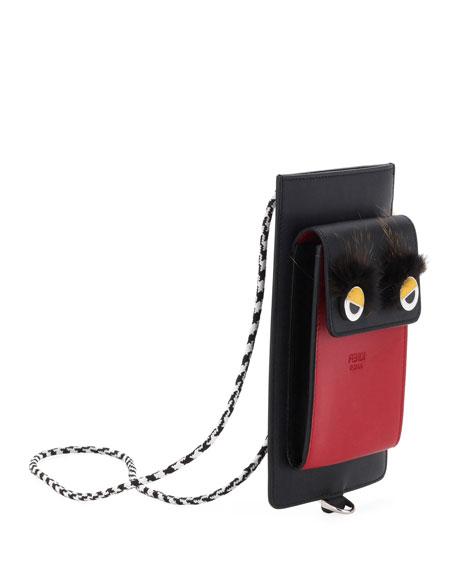 Runway Leather Phone Case, Black