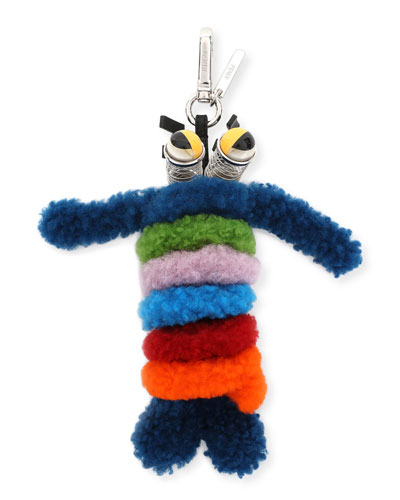 Shearling Monster Spring Charm for Bag or Briefcase