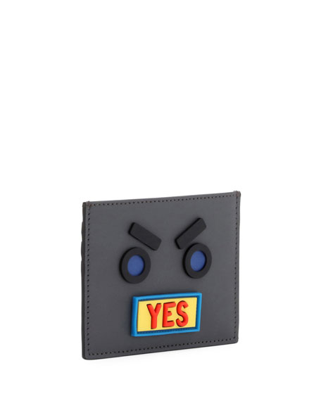 Vocabulary & Faces Leather Card Case