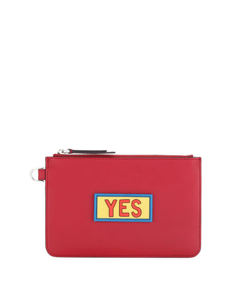 Yes Vocabulary Leather Coin Pouch