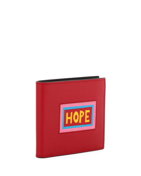 Hope Vocabulary Leather Bi-Fold Wallet