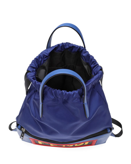 Vocabulary Nylon & Leather Tote Backpack