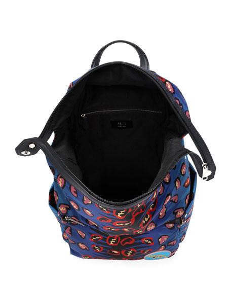 Jaguar Nylon & Leather Backpack