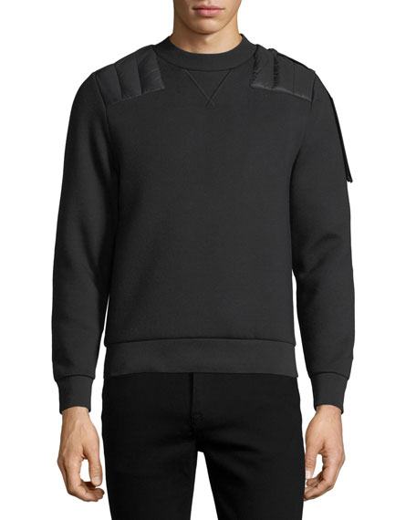 Quilted-Trim Sweatshirt