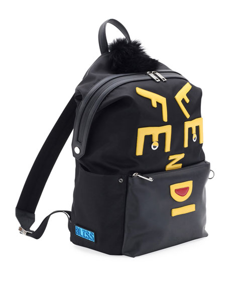 Vocabulary Monster Nylon & Leather Backpack