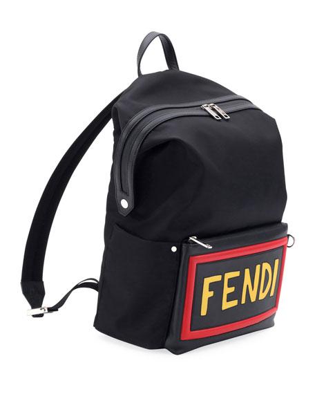 Vocabulary Nylon & Leather Backpack
